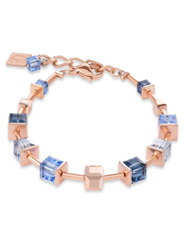 Coeur de Lion 25/25 25 Damen Armband Monochrome Blue Edelstahl roségold  blau