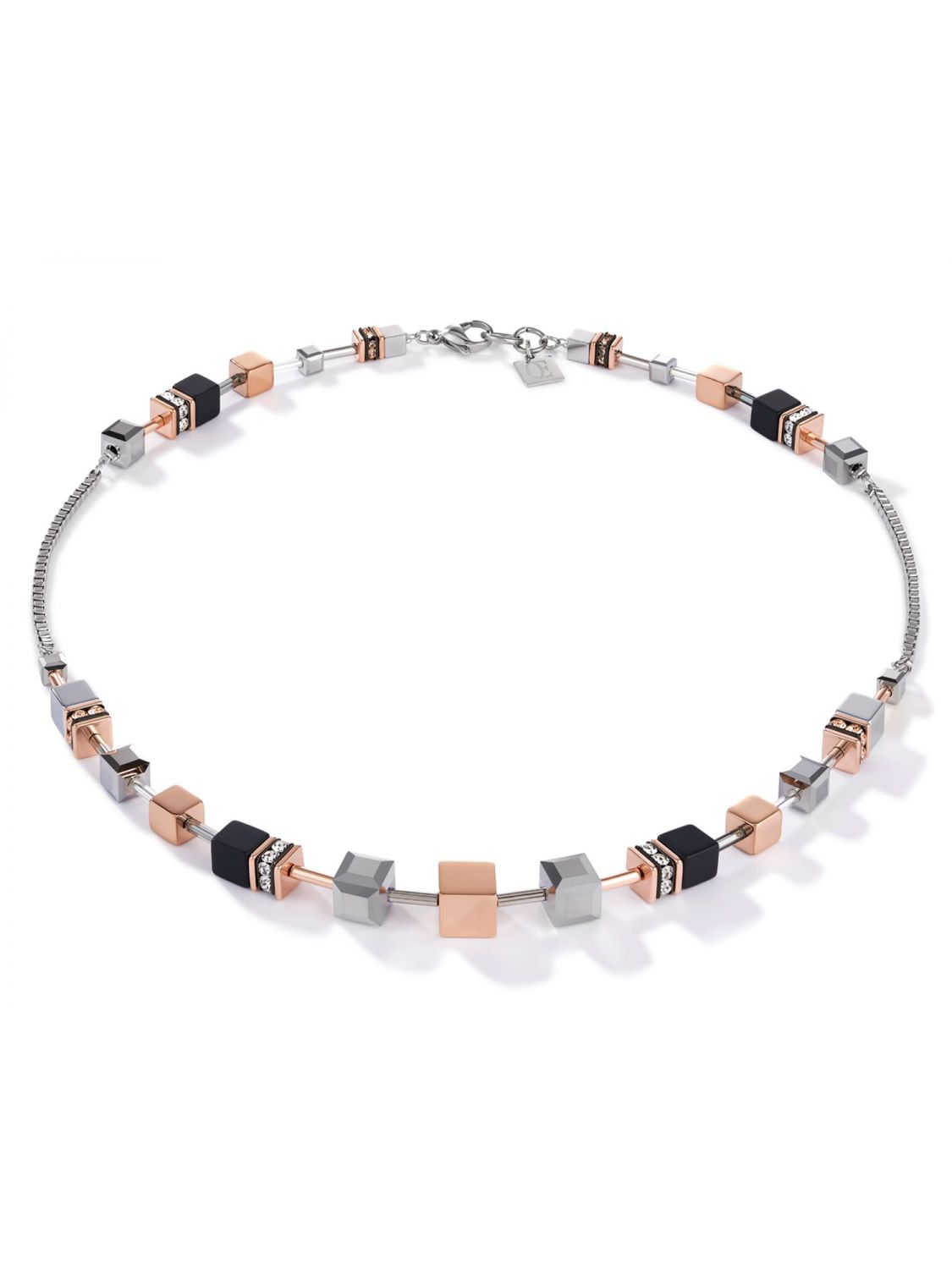 Coeur de Lion 25/25 25 Ladies Necklace Stainless Steel rose gold tone /  silver