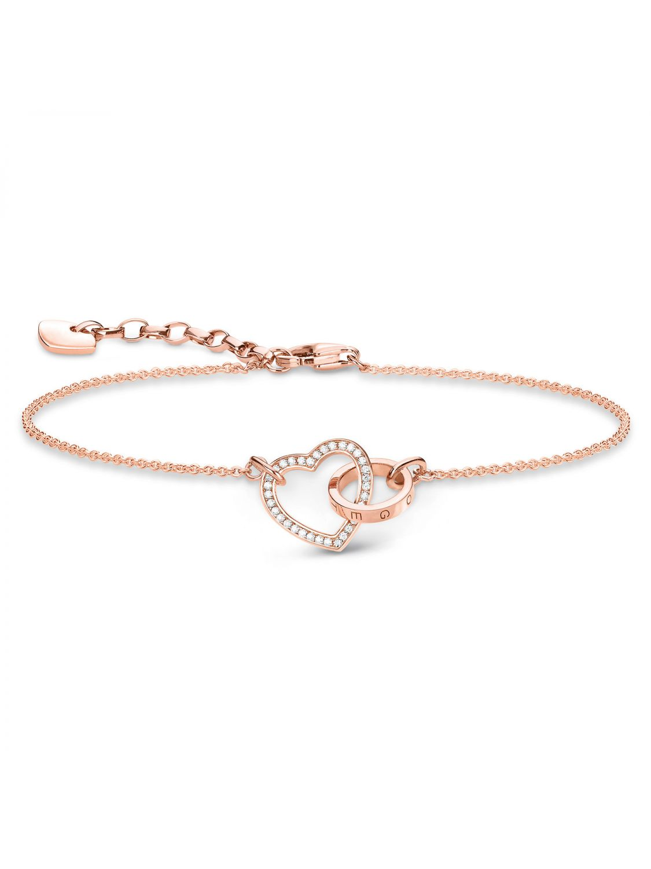 3b4700c479bab Thomas Sabo A1730-416-14 Bracelet Together Forever Heart Rose