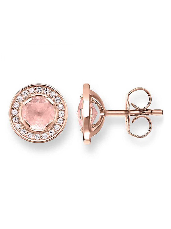 tolle Passform neue bilder von Großhandelspreis Thomas Sabo H1858-417-9 Ladies Earrings Light of Luna Pink