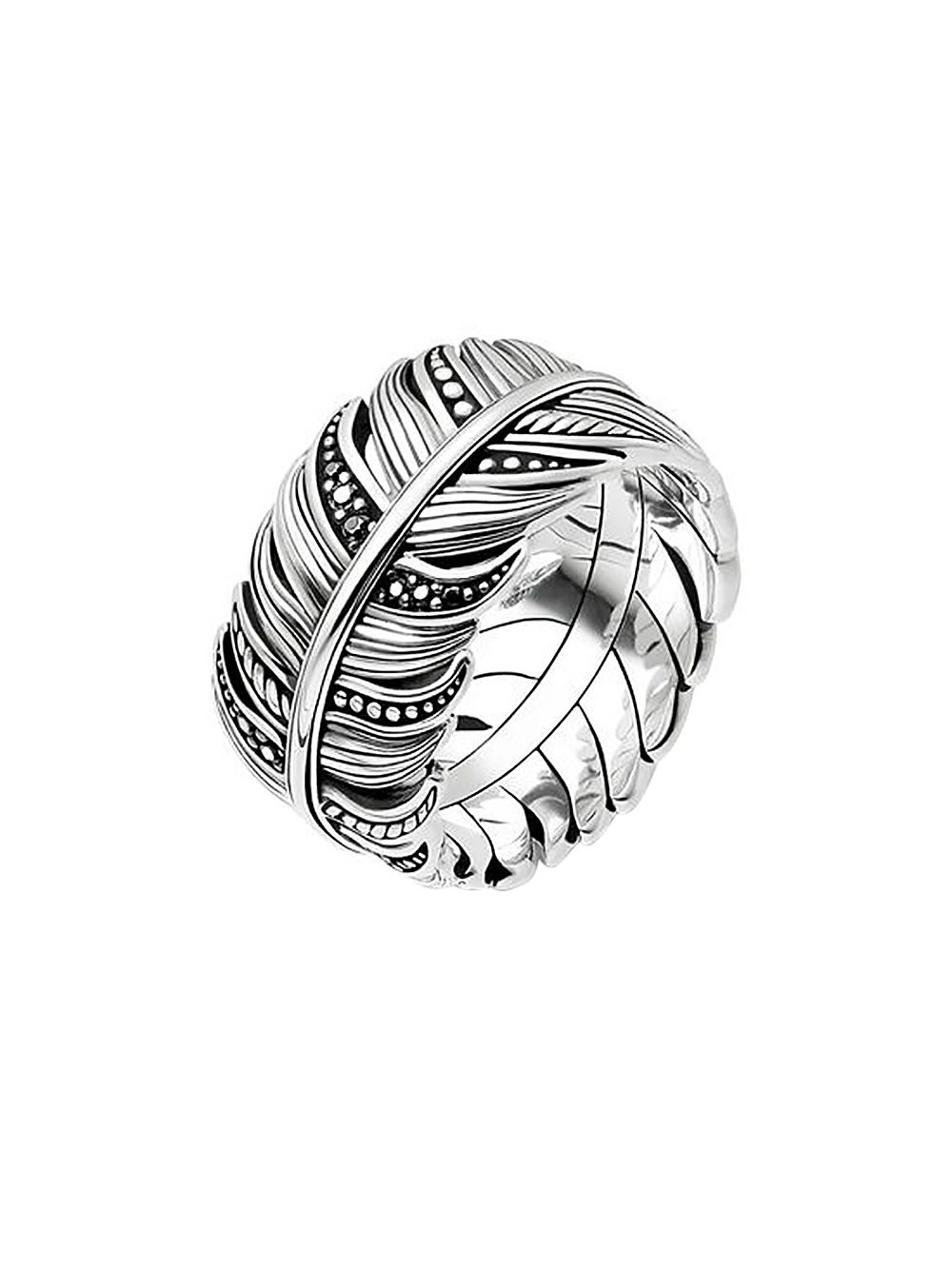 Thomas Sabo Tr2159 643 11 Ring Feather Pave Uhrcenter