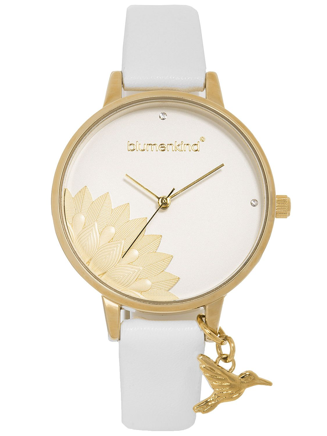 check out 1db30 bc9b5 Blumenkind 13121989GWHPWH Ladies' Wristwatch Pennsylvania Gold/White