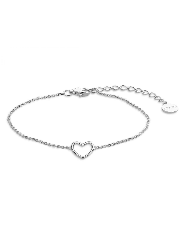 amazon Genieße am niedrigsten Preis neue Version Xenox XS1757 Silber Damen-Armband Heart Beat