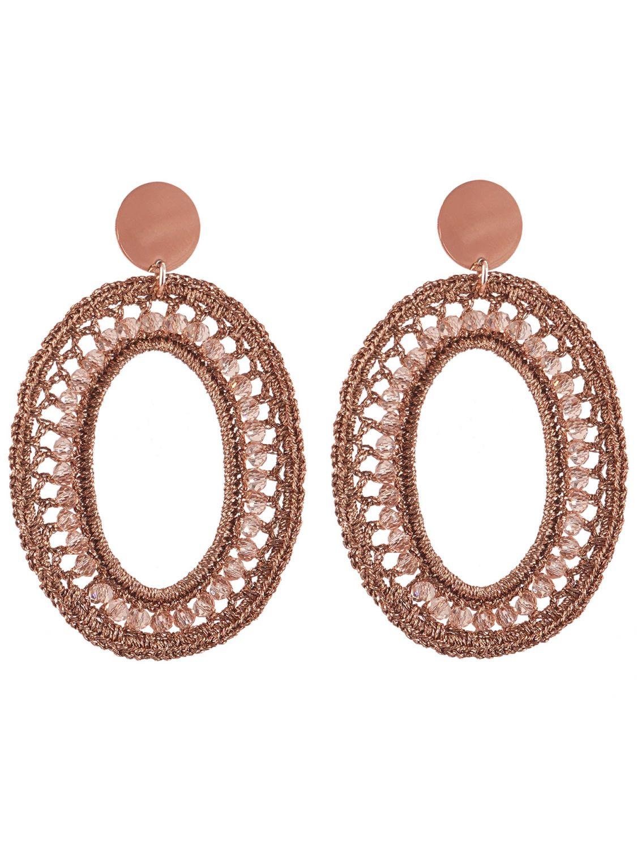 sehen Durchsuchen Sie die neuesten Kollektionen Waren des täglichen Bedarfs Lott Gioielli CESI125-R28592 Damen-Ohrringe Silk Oval L