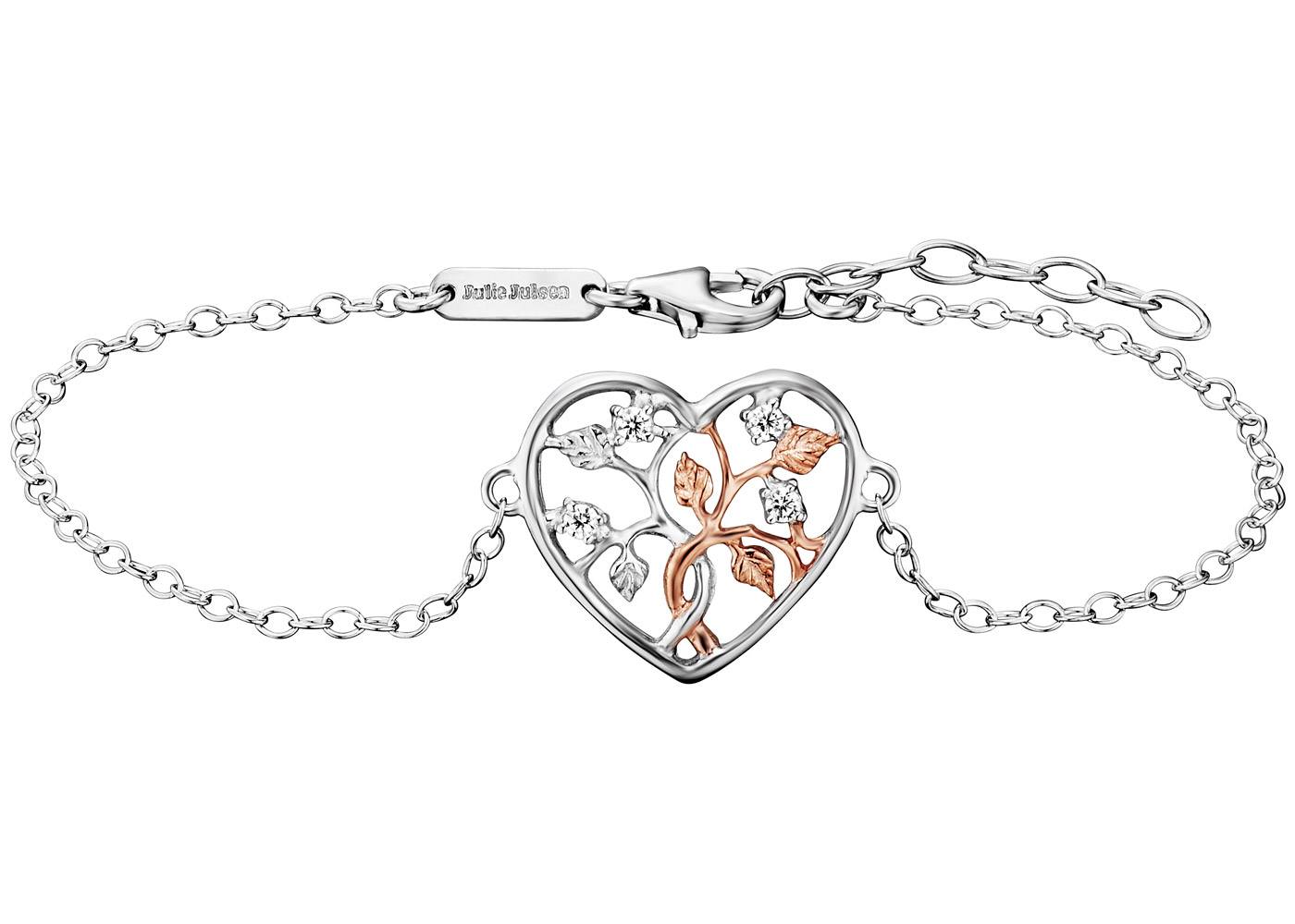 Julie Julsen JJBR0505.8 Damen Armband Lebensbaum Herz