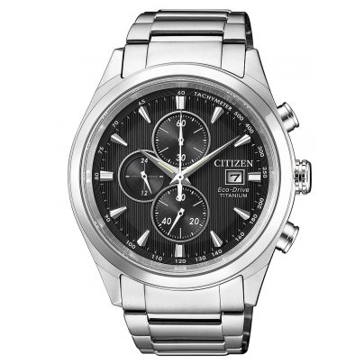 Citizen CA0650-82F Mens Watch Chronograph Eco-Drive Super Titanium 4974374268594