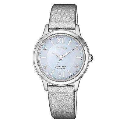 Citizen EM0720-18D Ladies' Solar Watch Eco-Drive Super Titanium 4974374280343