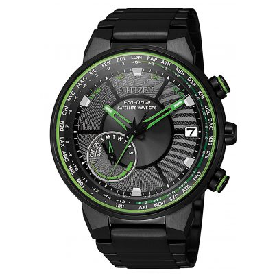 Citizen CC3075-80E Herren-Armbanduhr Eco-Drive Satellite Wave 4974374289698
