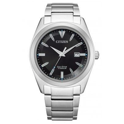Citizen AW1640-83E Eco-Drive Herren-Armbanduhr Titan Schwarz 4974374296870