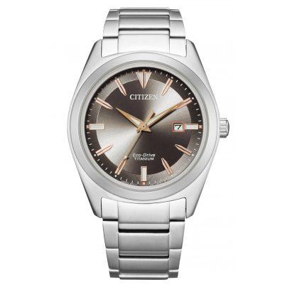 Citizen AW1640-83H Eco-Drive Herrenuhr Titan Grau 4974374296887