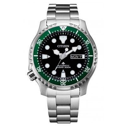 Citizen NY0084-89E Promaster Automatic Diver Herrenuhr Schwarz / Grün 4974374298201
