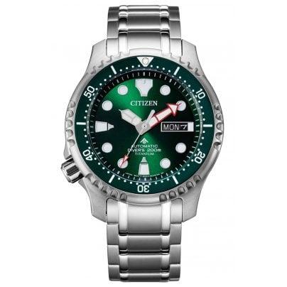 Citizen NY0100-50X Promaster Automatic Diver Herrenuhr Titan Grün 4974374298225