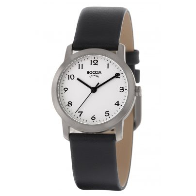 Boccia 3291-01 Titanium Ladies' Watch with Leather Strap 4040066248332