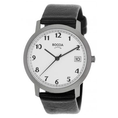 Boccia 3617-01 Titan-Damenuhr mit Lederband 4040066248752
