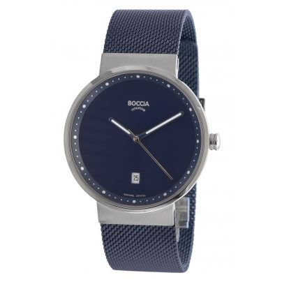Boccia 3615-05 Titan-Armbanduhr mit Saphirglas 4040066250809