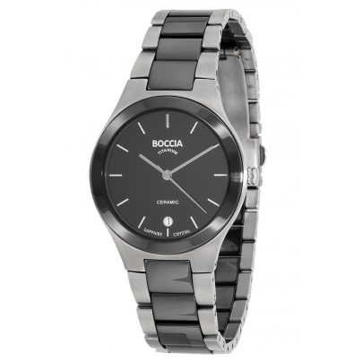 Boccia 3628-01 Titanium Ceramic Gents Watch 4040066252681