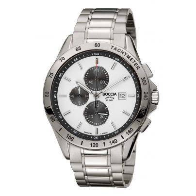 Boccia 3751-04 Herren-Titanuhr Chronograph 4040066254463