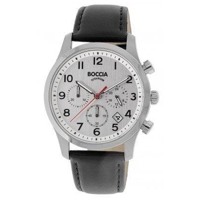 Boccia 3749-01 Titan Chronograph für Herren 4040066256160
