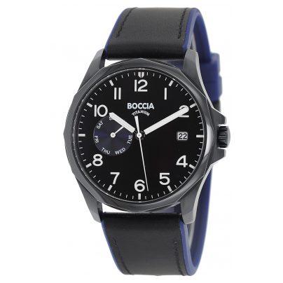 Boccia 3644-03 Herren-Armbanduhr Titan Schwarz 4040066260174