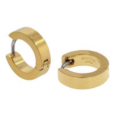 Boccia 0510-13 Titan Damen-Ohrringe Creolen gold 4040066256009