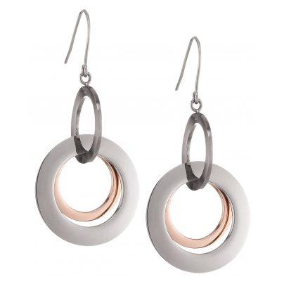Boccia 0554-03 Titan Damen-Ohrringe Ohrhänger bicolor roségold 4040066190488