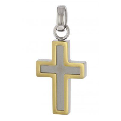 Boccia 07015-01 Titan Damen-Anhänger Kreuz 4040066241548