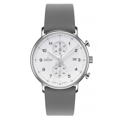 Junghans 041/477-Grau Men's Wristwatch Chronoscope Form C 4260497089032