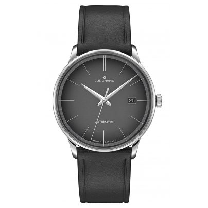 Junghans 027/4051.00 Men's Watch Meister Automatic Black Leather Strap 4000897392970