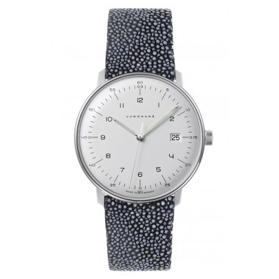 Junghans 041/446-Rochen max bill Quartz Men's Watch with 2 Leather Straps 4260497088943