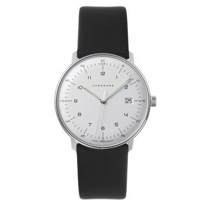 Junghans 041/446-Nappa max bill Quartz Men's Watch with 2 Leather Straps 4260497088974