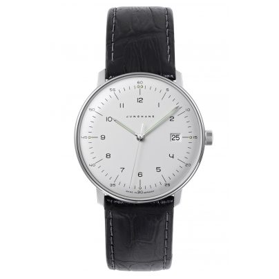 Junghans 041/446-Reptile Schwarz max bill Quartz Watch with 2 Leather Straps 4260497088950