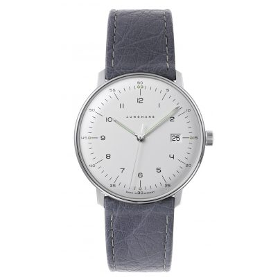 Junghans 041/446-Strauß max bill Quartz Watch with 2 Leather Straps 4260497089551