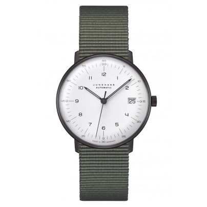 Junghans 027/4005.04 max bill Watch Small Automatic Nato Strap Green 4000897392833