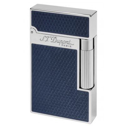 S.T. Dupont 016252 Lighter With Guilloche Under Blue Lacquer 3597390242976