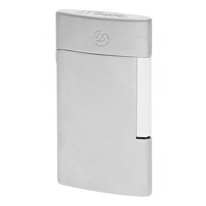 S.T. Dupont 027009E Electric Lighter E-Slim Brushed Chrome 3597390251053
