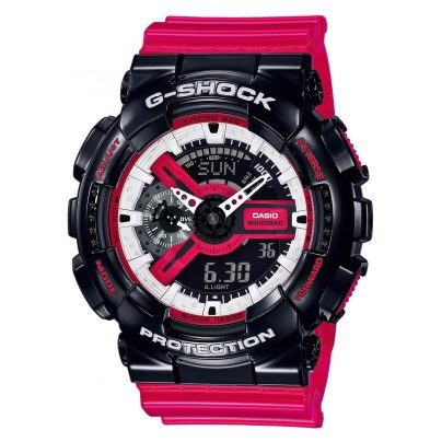 Casio GA-110RB-1AER G-Shock Wristwatch with Digital and Analogue Display 4549526223266