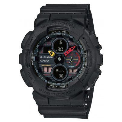 Casio GA-140BMC-1AER G-Shock Herren-Armbanduhr Black x Neon 4549526241543