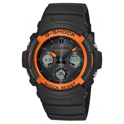 Casio AWG-M100SF-1H4ER G-Shock Solar Radio-Controlled Watch Black / Orange 4549526258572