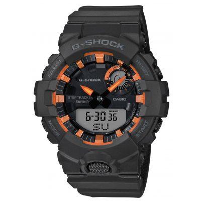 Casio GBA-800SF-1AER G-Shock G-Squad Herrenuhr Bluetooth Schwarz / Orange 4549526258473