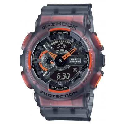 Casio GA-110LS-1AER G-Shock Classic Herrenuhr Grau / Orange 4549526270376