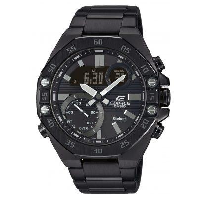 Casio ECB-10DC-1AEF Edifice Herren-Armbanduhr mit Bluetooth Schwarz 4549526252723