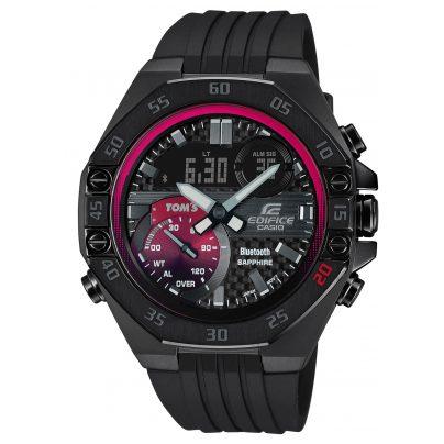 Casio ECB-10TMS-1AER Edifice Limited Herrenuhr Bluetooth Schwarz / Rot 4549526268489