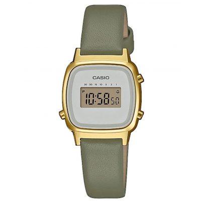 Casio LA670WEFL-3EF Vintage Mini Digitaluhr für Damen Grün/Gold 4549526252242