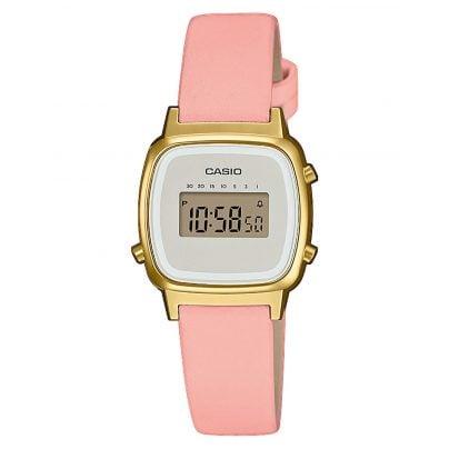 Casio LA670WEFL-4A2EF Vintage Mini Digital Ladies' Watch Pink/Gold 4549526252259