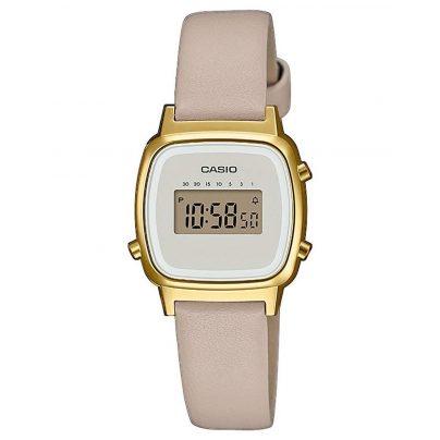 Casio LA670WEFL-9EF Vintage Mini Digital-Armbanduhr für Damen Beige/Gold 4549526252266