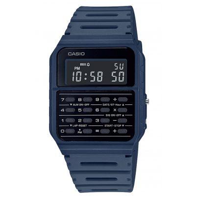 Casio A-53WF-2BEF Vintage Edgy Digital Watch with Calculator Blue 4549526272752