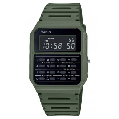 Casio CA-53WF-3BEF Vintage Edgy Men´s Watch with Calculator Green 4549526272769