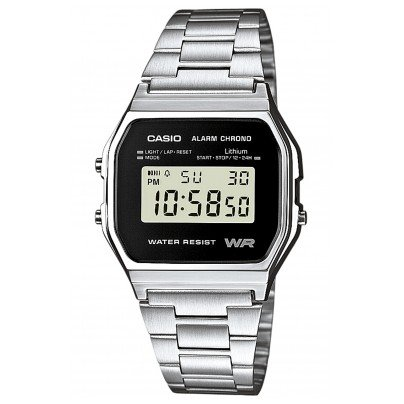 Casio A158WEA-1EF Alarm Chrono Digitaluhr 4971850944386