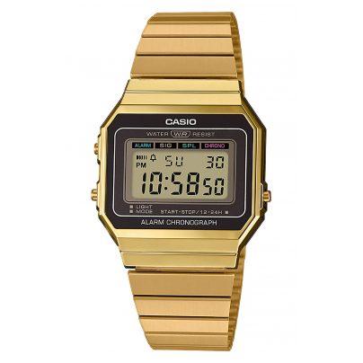 Casio A700WEG-9AEF Vintage Damen-Armbanduhr 4549526220227