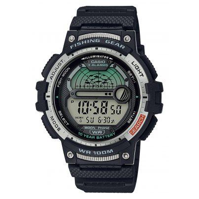 Casio WS-1200H-1AVEF Herren-Digitaluhr für Angler und Fischer Schwarz 4549526252044